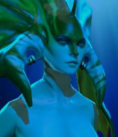 Naga siren vert